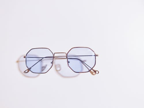 Eyeglasses On White Surface