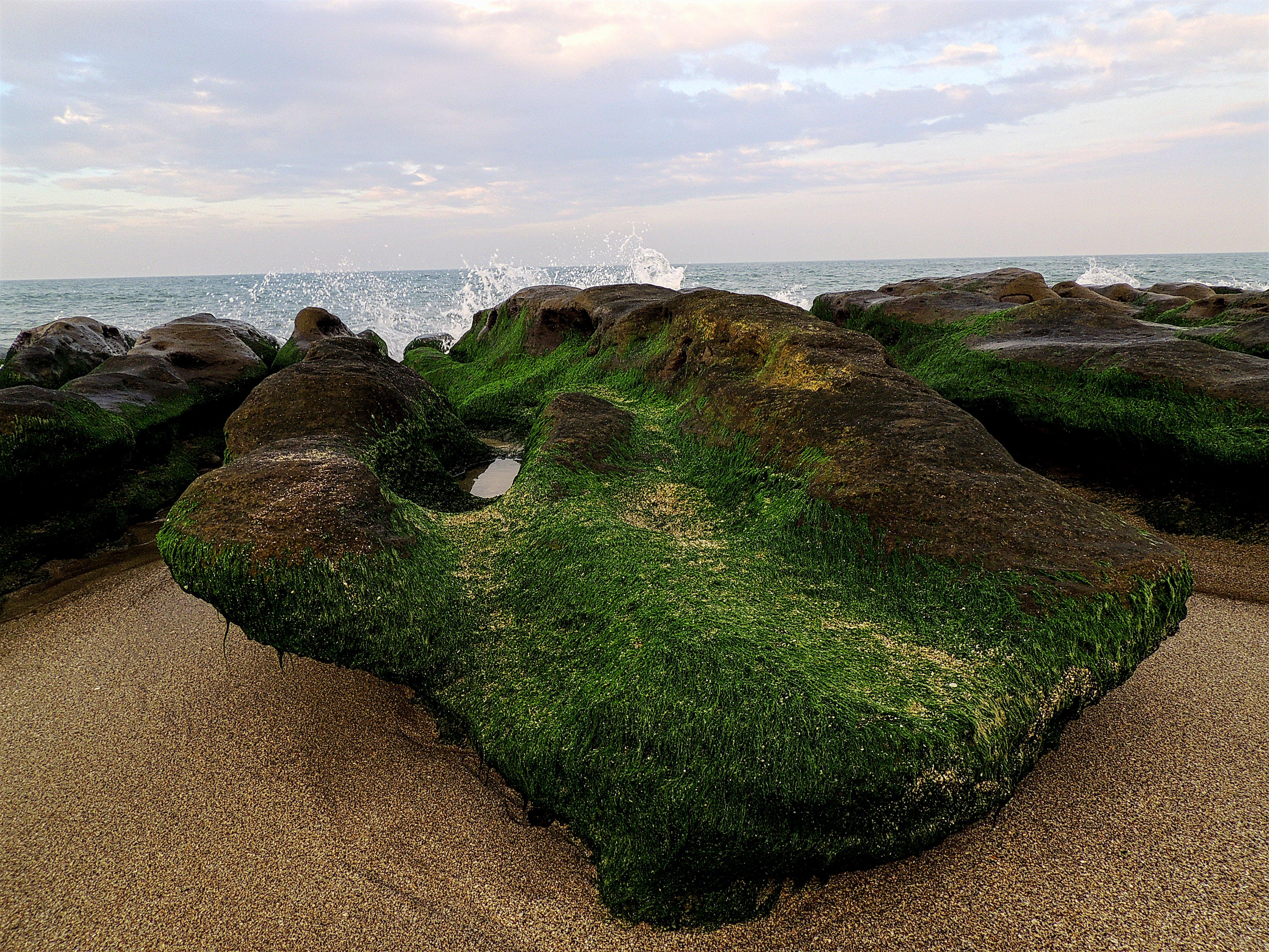 Rock Formation Beside Seashore