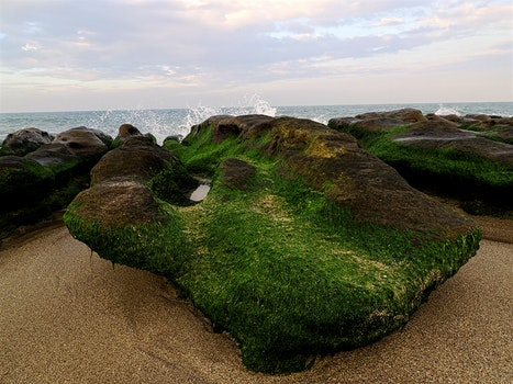 Rock Formation Beside Seashore
