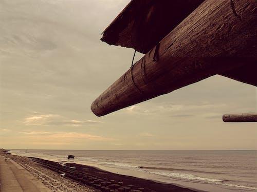 Foto d'estoc gratuïta de aigua, alba, capvespre, mar