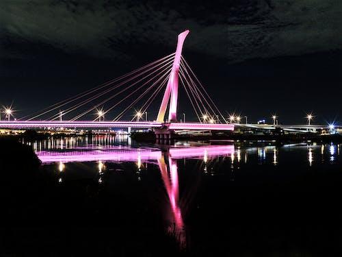 ブリッジ, 光, 建築, 水の無料の写真素材