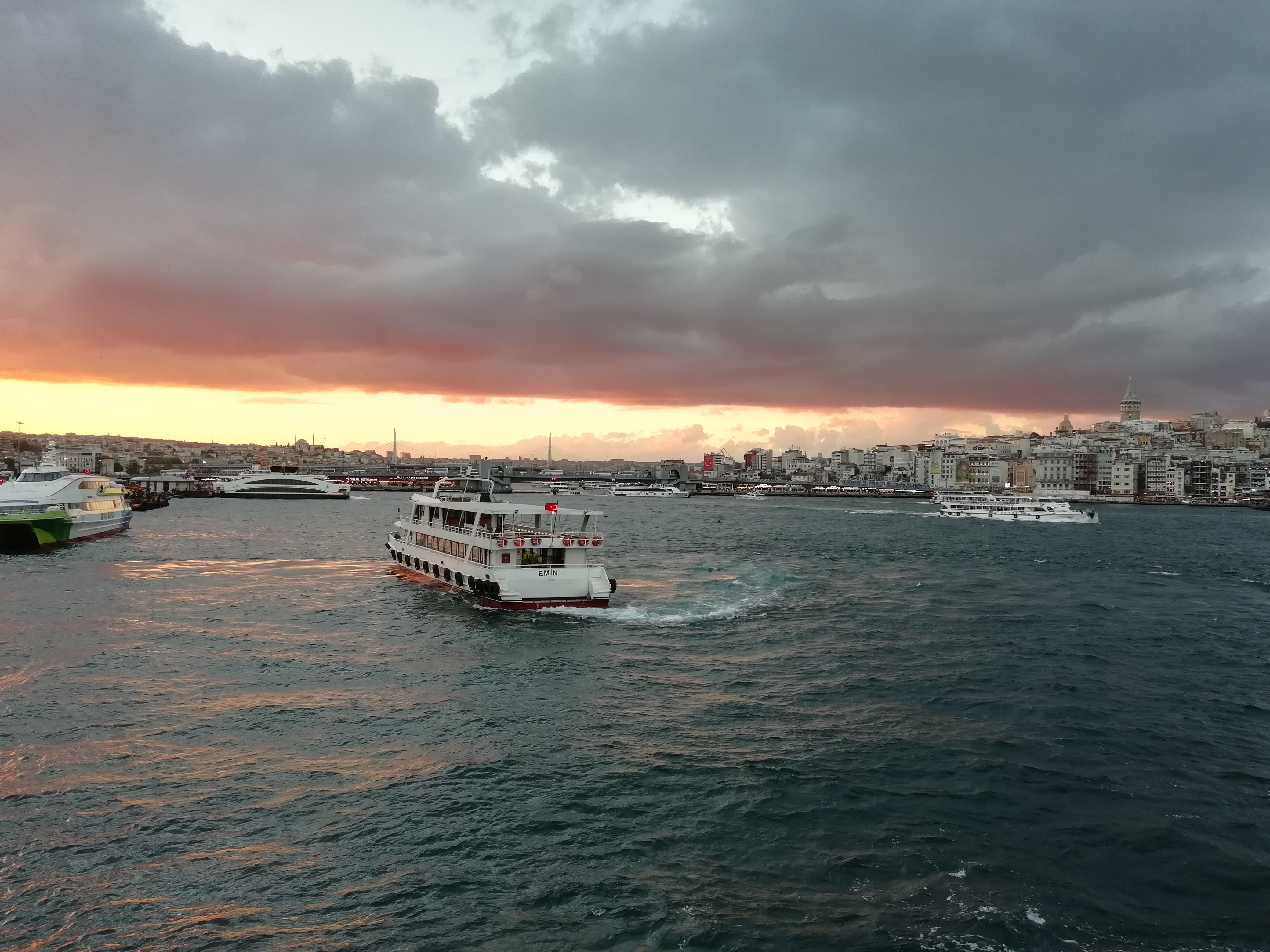Free stock photo of bousphorous, clouds, sunset