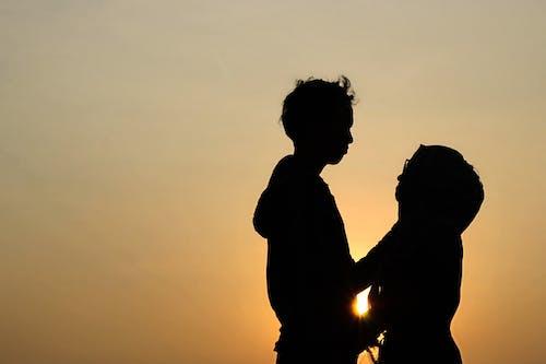 Foto d'estoc gratuïta de capvespre, l'amor és l'amor