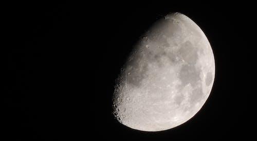 Darmowe zdjęcie z galerii z ciemny, krater, księżyc, noc
