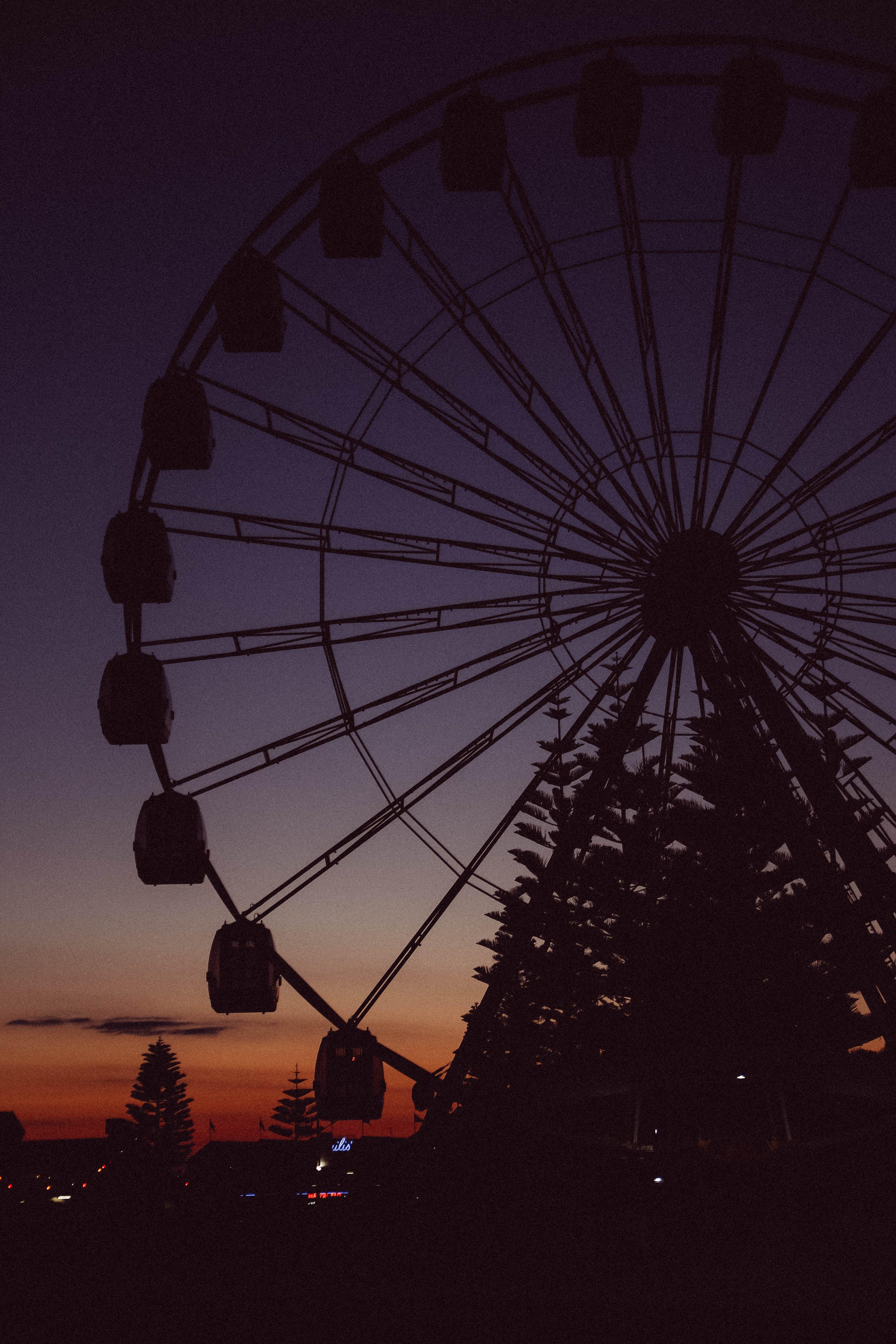 Free stock photo of sunset, ferris wheel