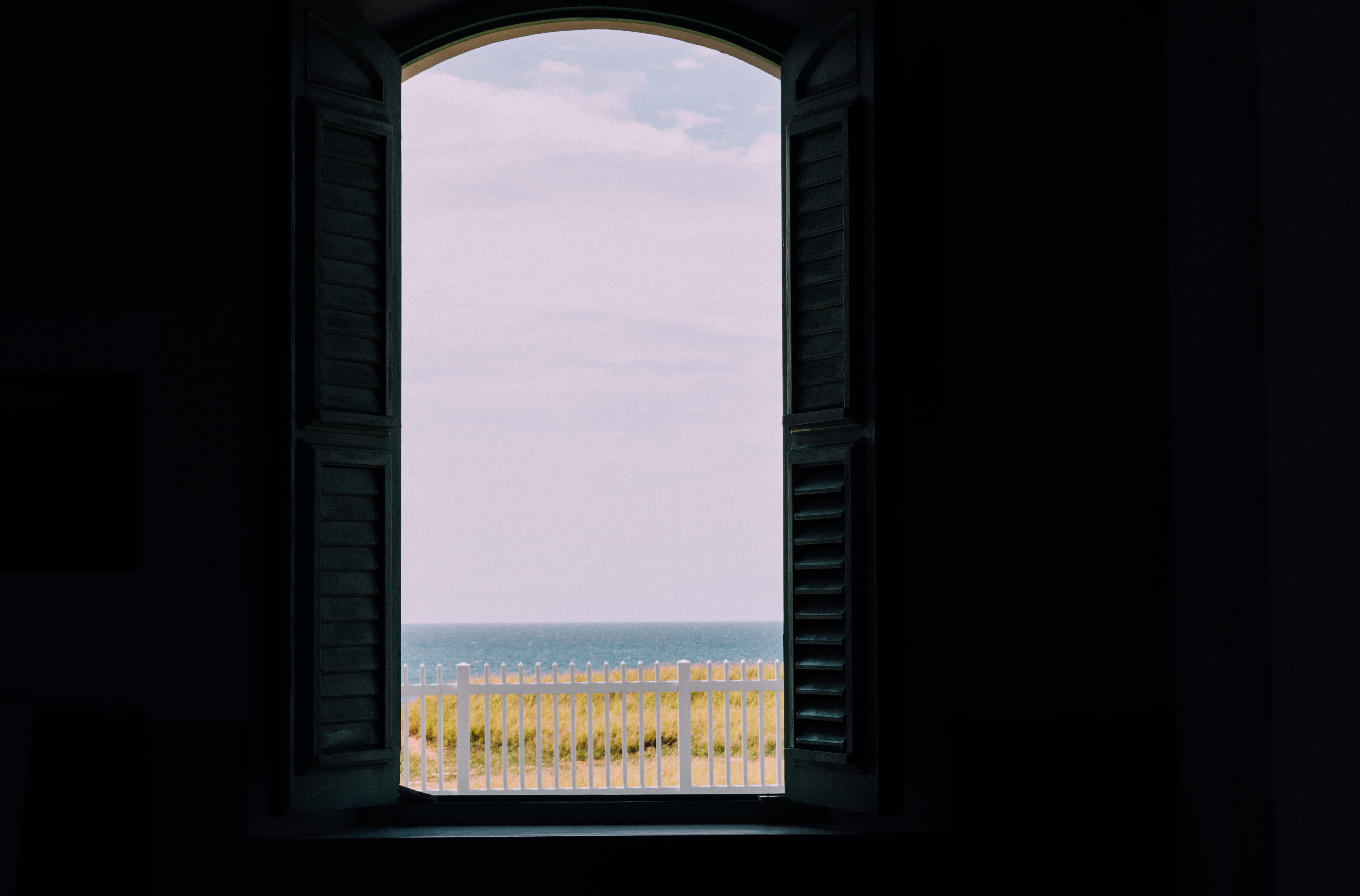 White Window Open at Daytime
