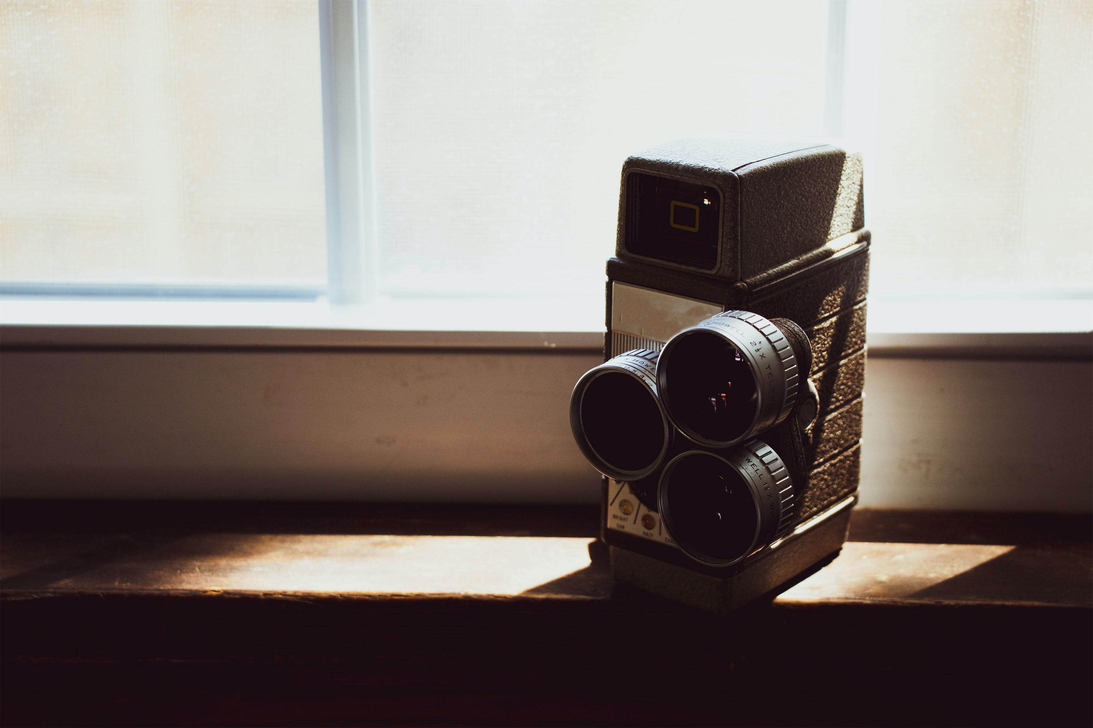 Black Vintage Camera On Table