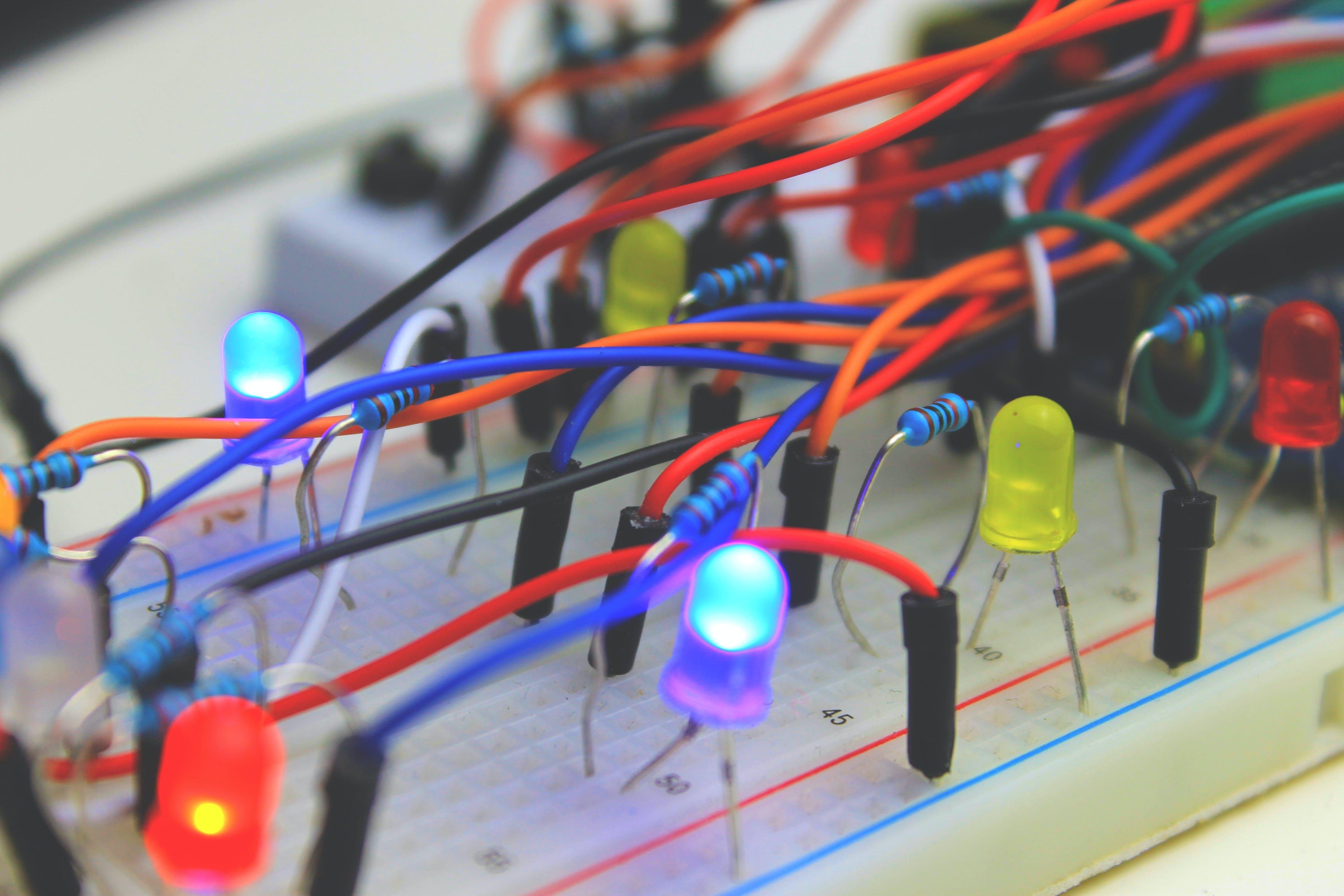 led lichter, steuerung, technik