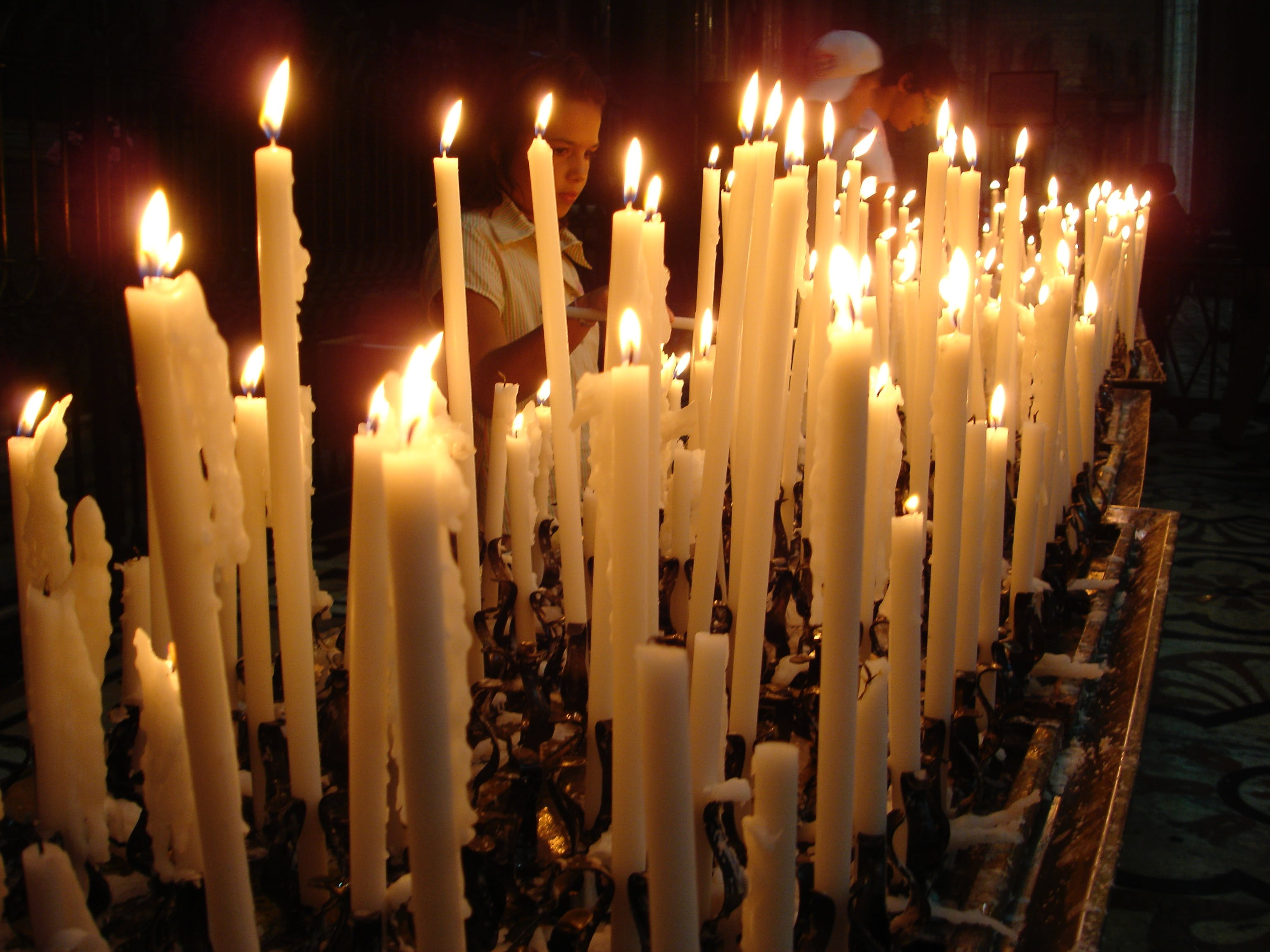 Free stock photo of candles, church