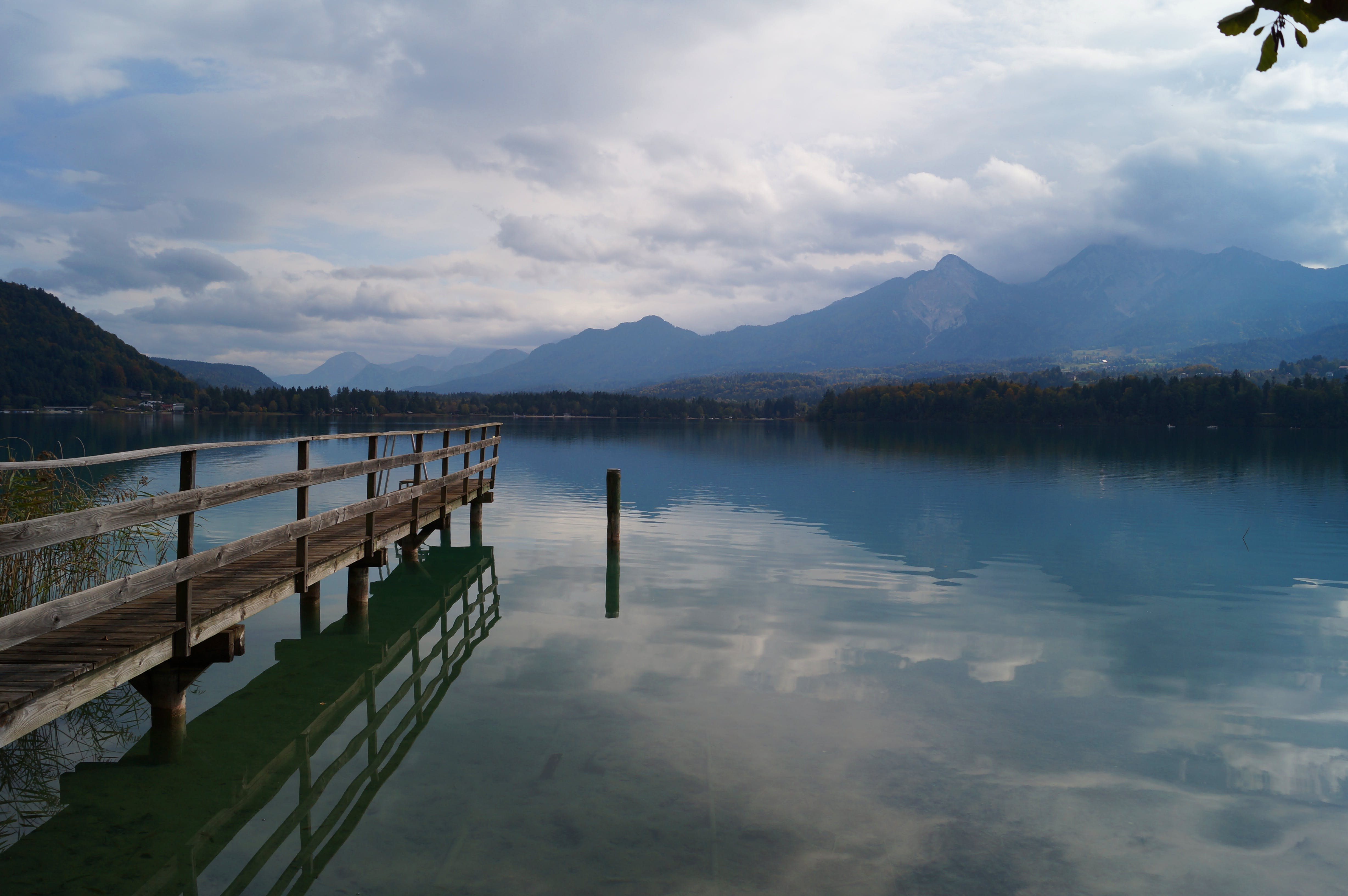 Free stock photo of alps, clouds, lake, landing stage