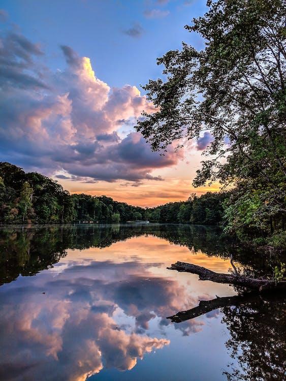 coucher de soleil, coucher du soleil, des kayaks