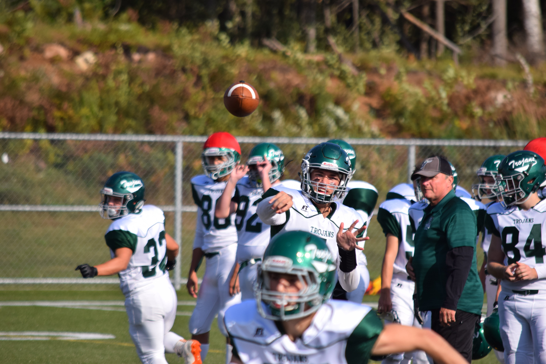 Free stock photo of football, green and white, quarterback