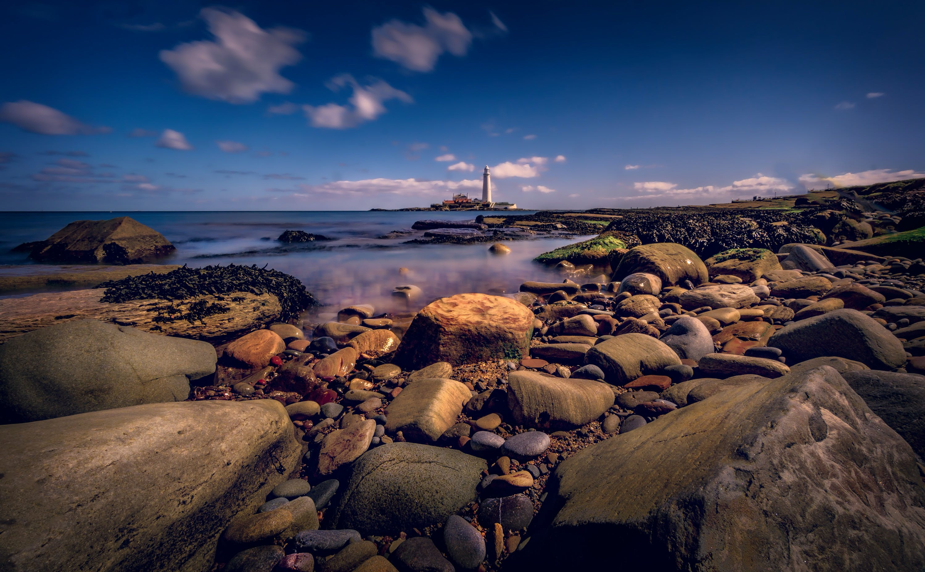 Worm's-eye View Photography of Lighthouse