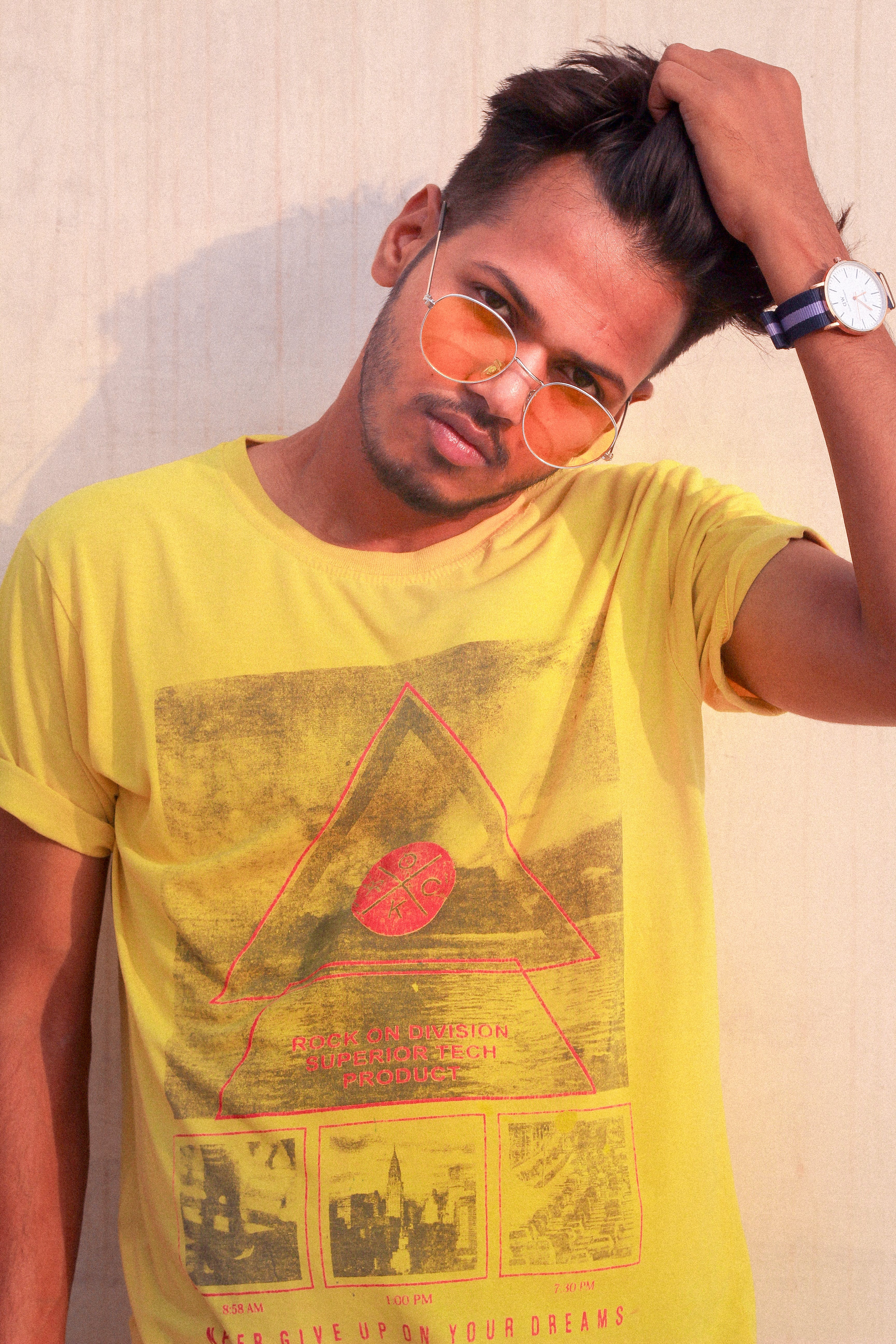 of guy, handsome, yellow