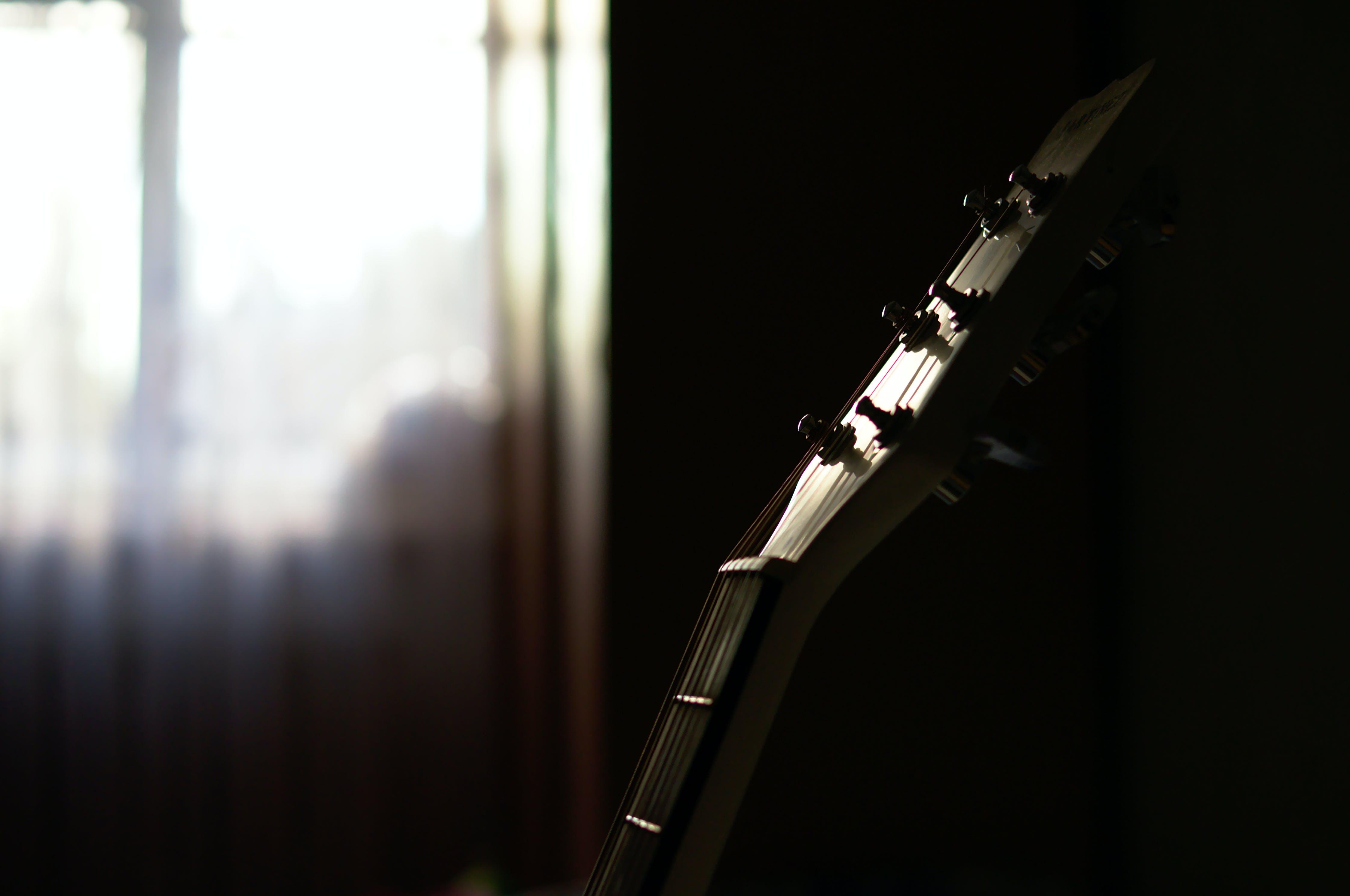Foto stok gratis gitar, kepala gitar