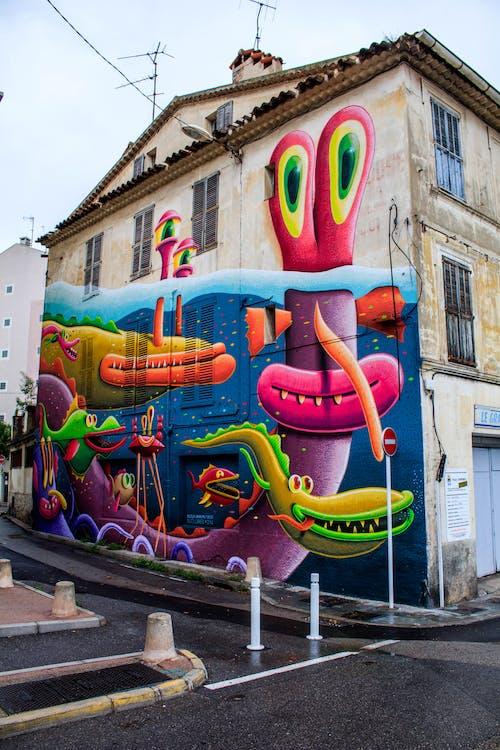 Foto d'estoc gratuïta de arquitectura, art, art de carrer, artsy