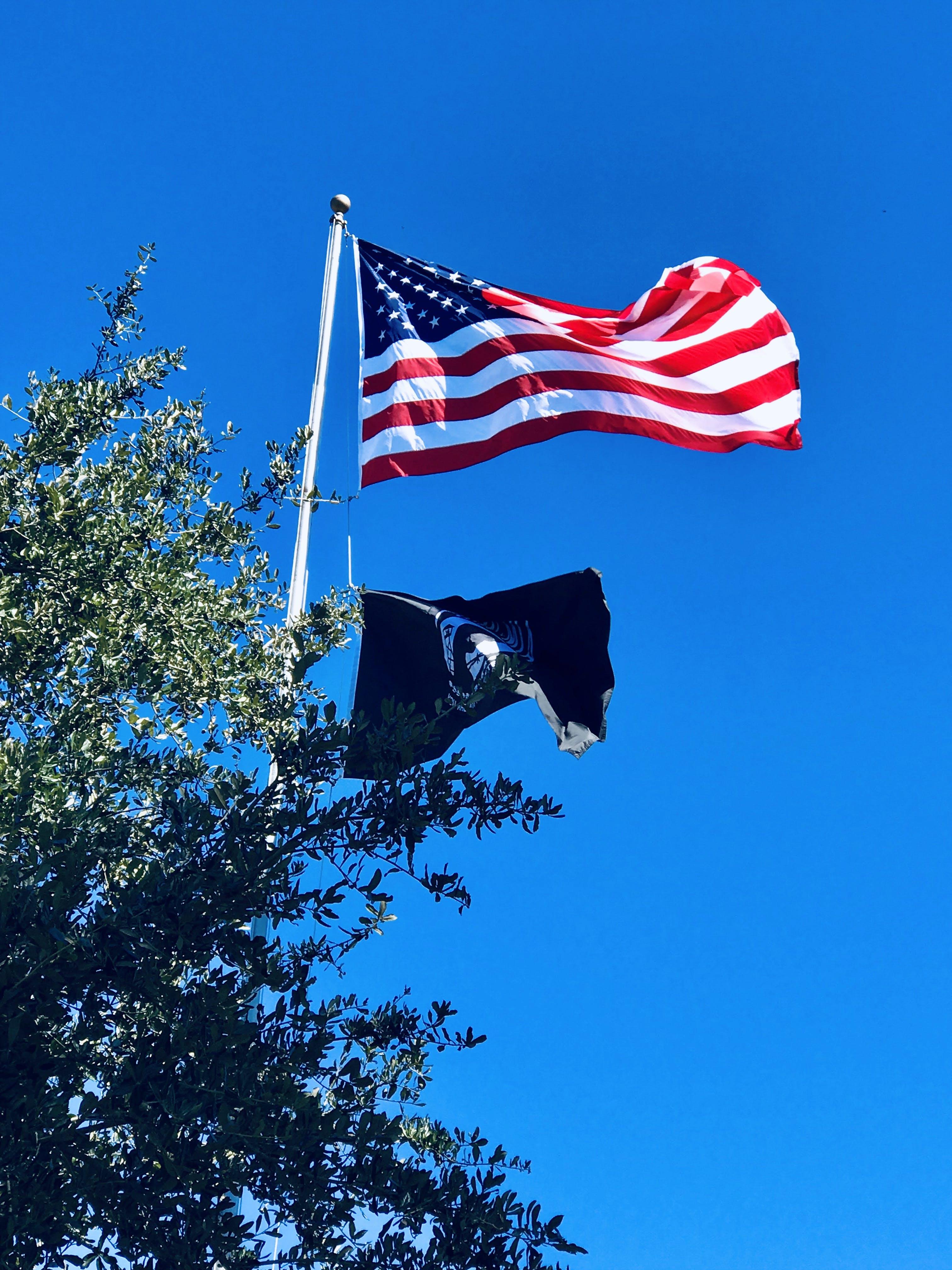 Free stock photo of american, American flag, patriotic, POW flag