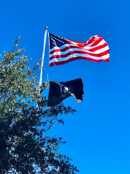 Gratis stockfoto met Amerikaanse vlag, patriottisch, pow vlag, veteranen