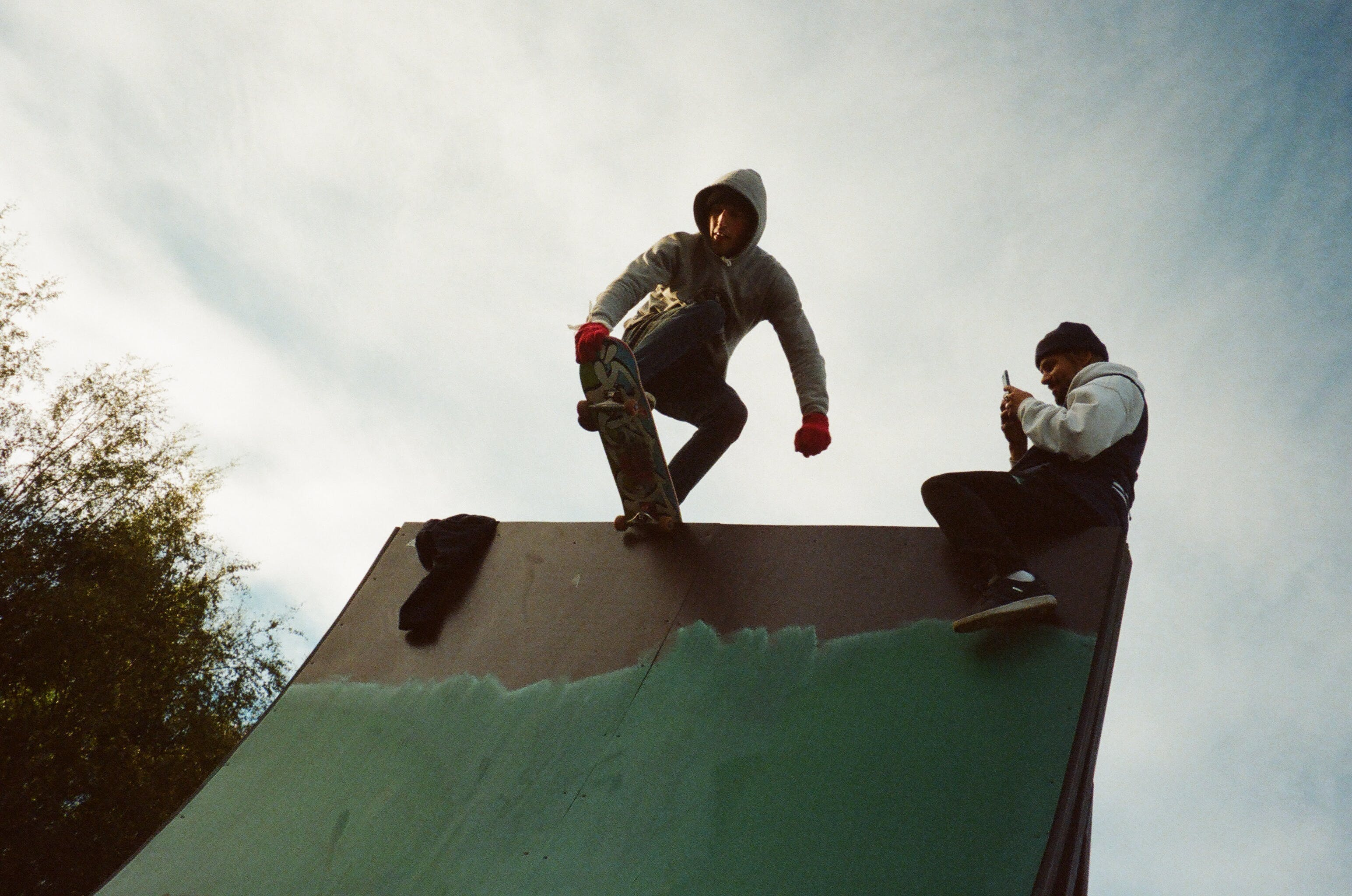 Photo of a Man Skateboarding