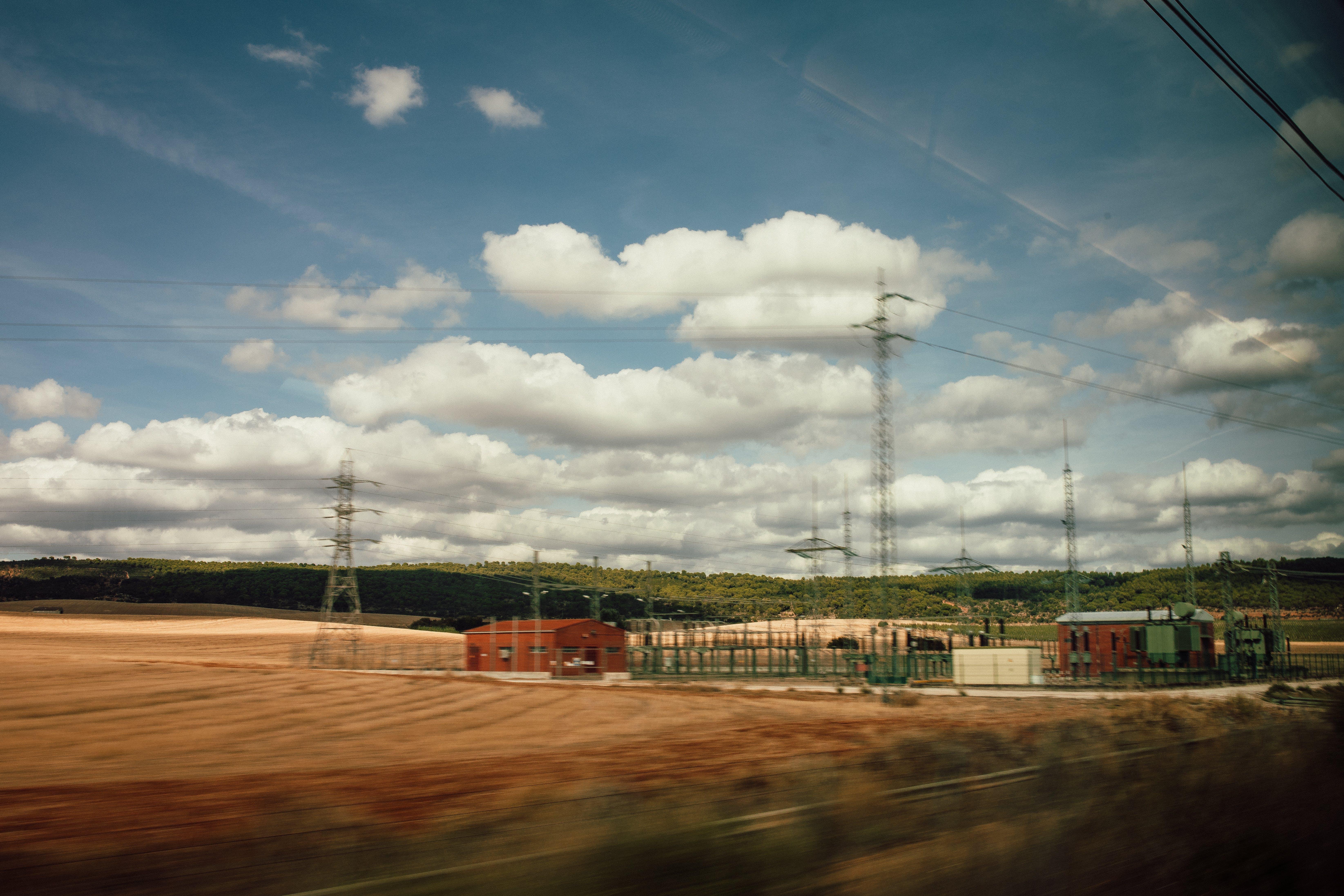 Free stock photo of clouds, train, fast, machine