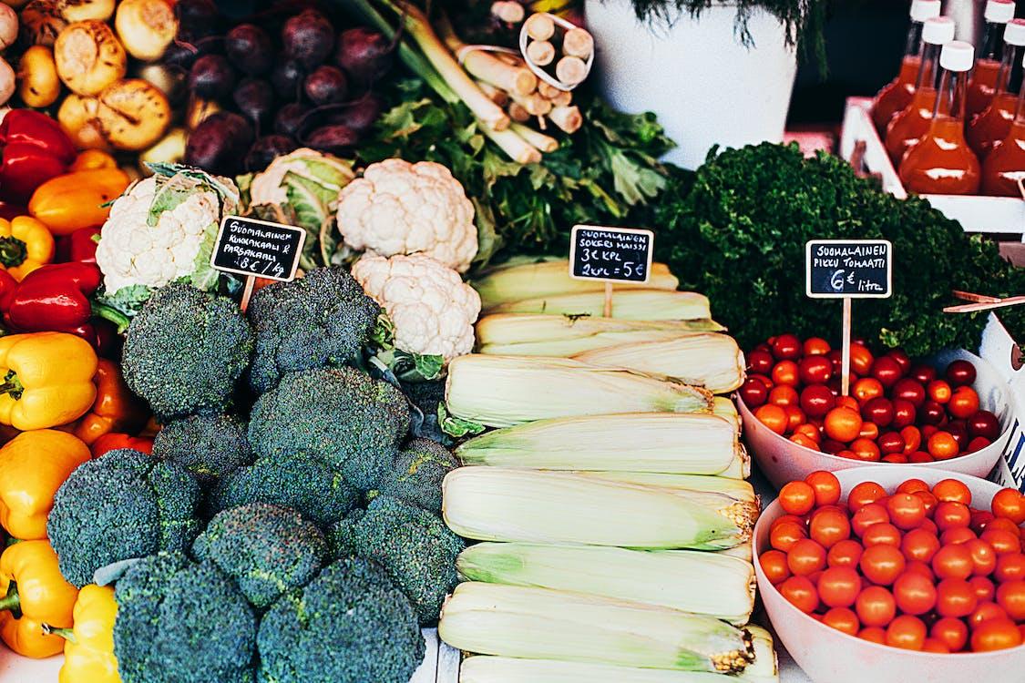 brokuły, jedzenie, pomidory