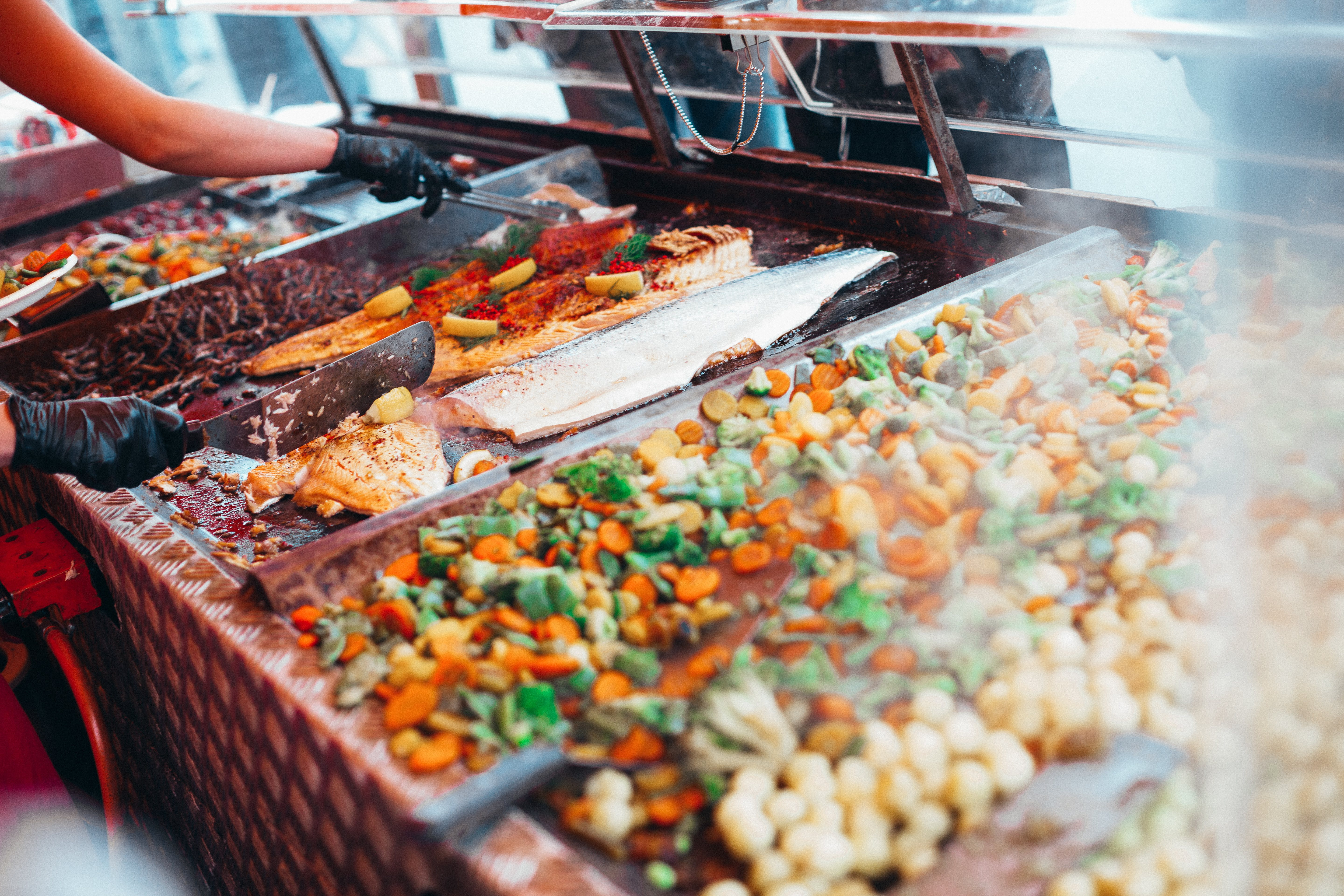Food in Bain Marie Counter in Focus Photography