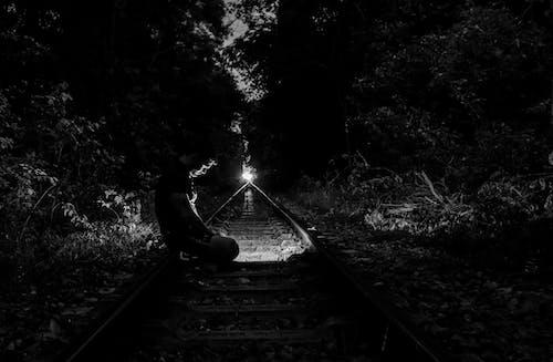 Foto stok gratis #hitam, #putih hitam, abistract, kota malam