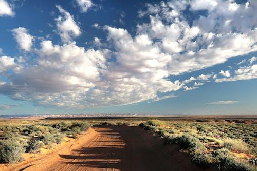 Foto d'estoc gratuïta de camí de carro, carretera, cel, desert