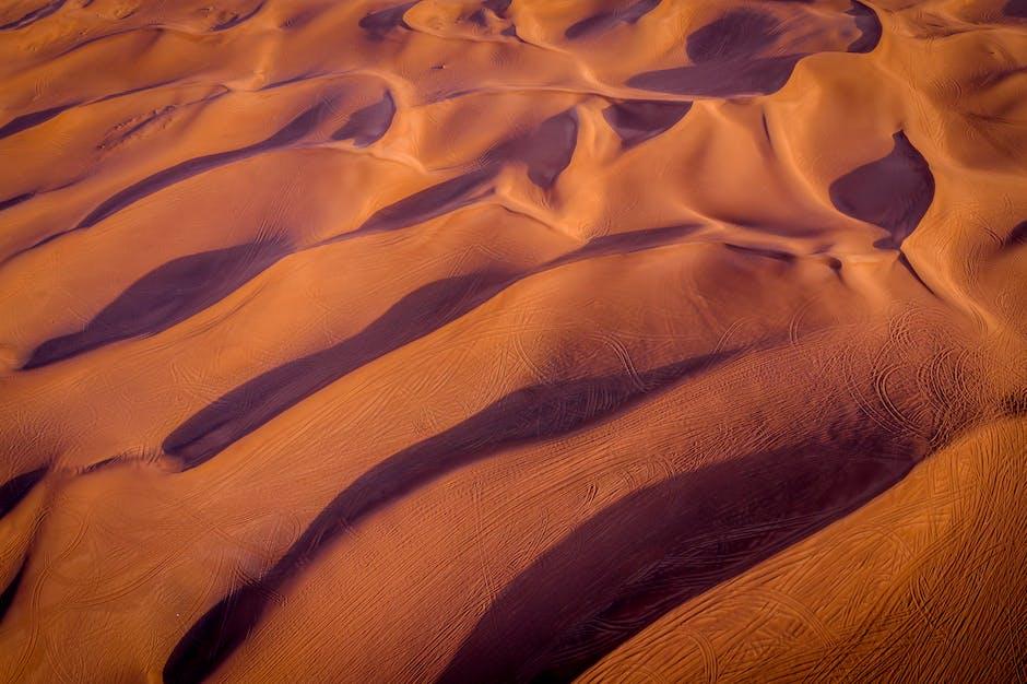 Bird s eye view of desert
