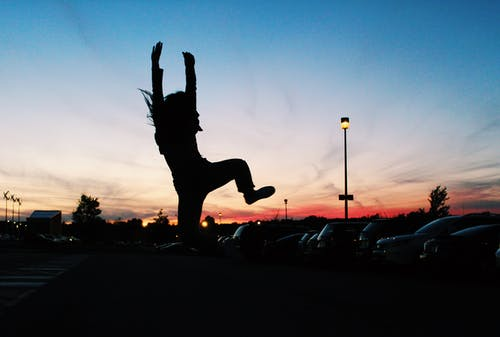Silhouette of Jumping Person