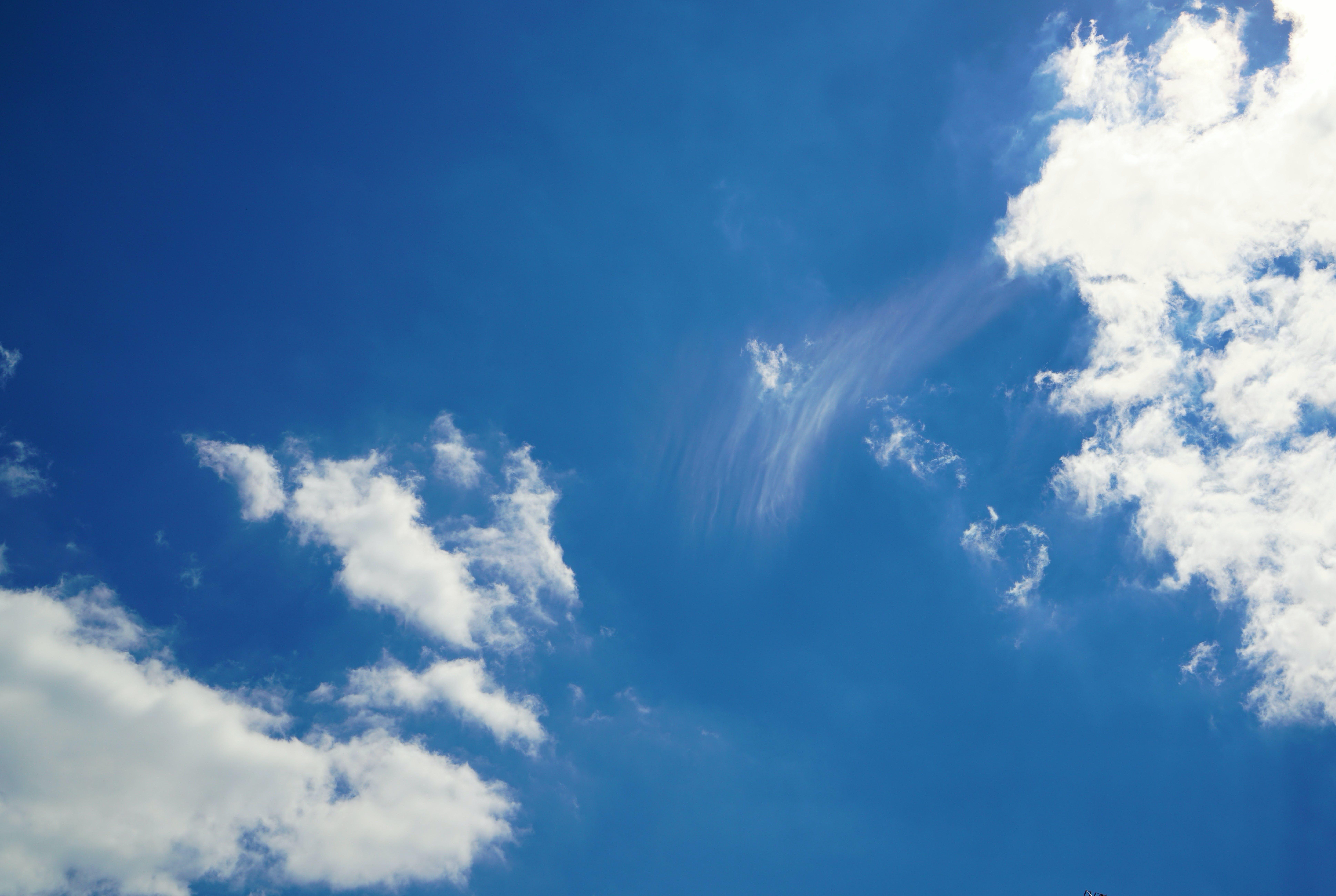 blue sky, clouds, sky