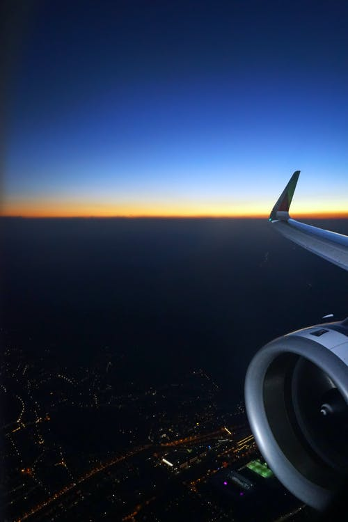 abend, blauer himmel, dämmerung