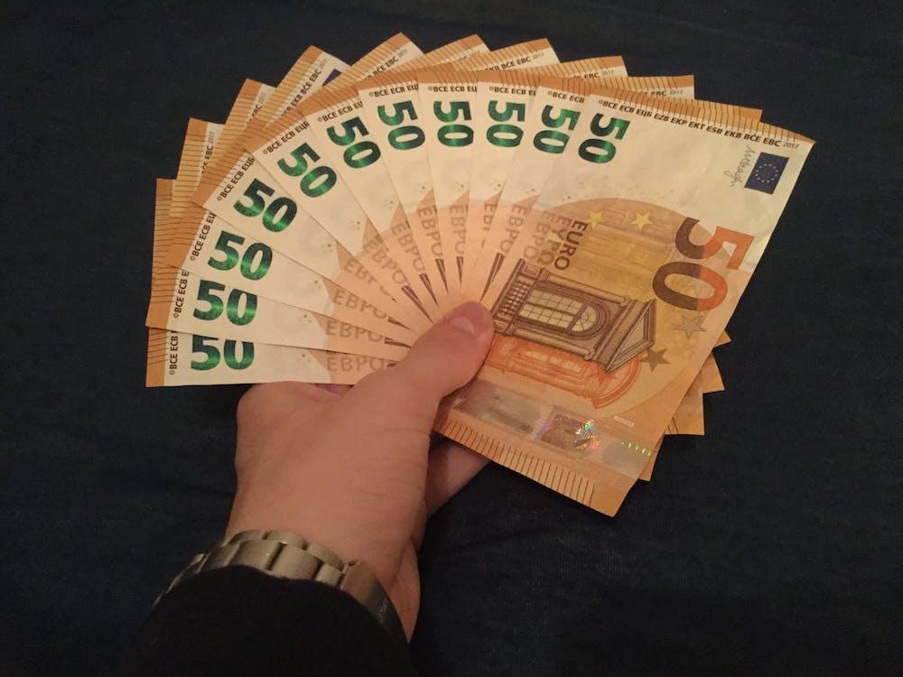 50, お金, ユーロの無料の写真素材