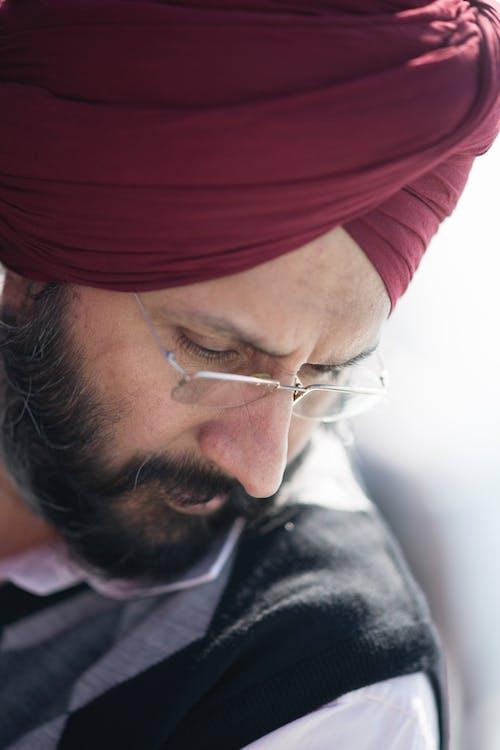 Close-Up Photo of an Indian Man