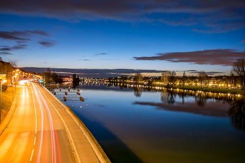 Бесплатное стоковое фото с голубое небо, длинная экспозиция, красивый, ночь