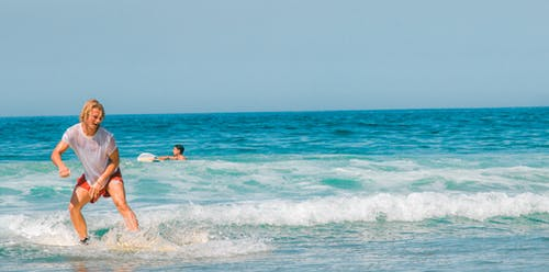 Foto stok gratis surf.waves.sea.sky.morocco