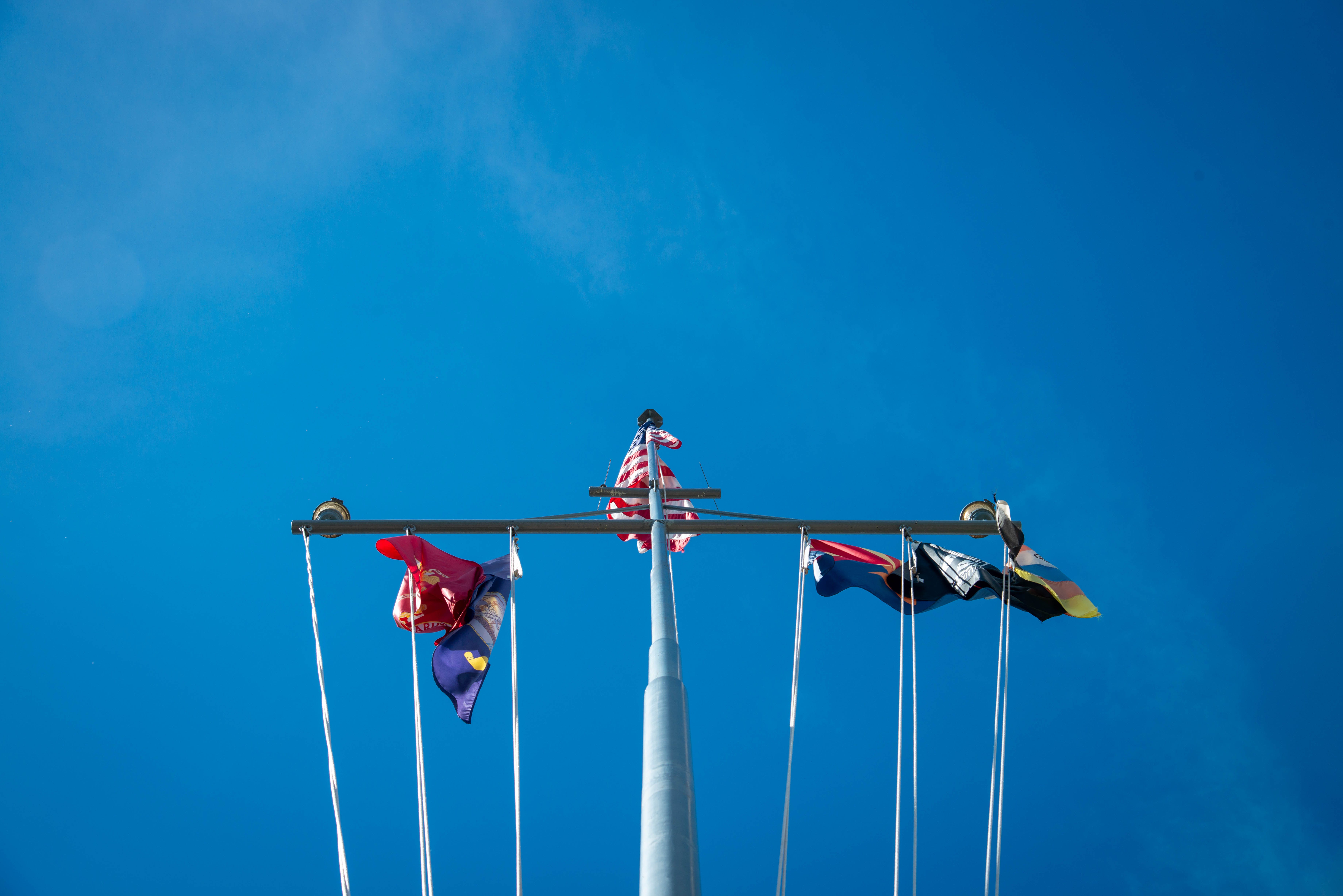Free stock photo of flags, mast, memorial, naval