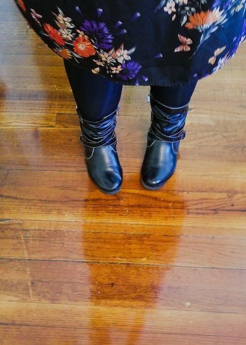 Free stock photo of black, boots, dress, floor