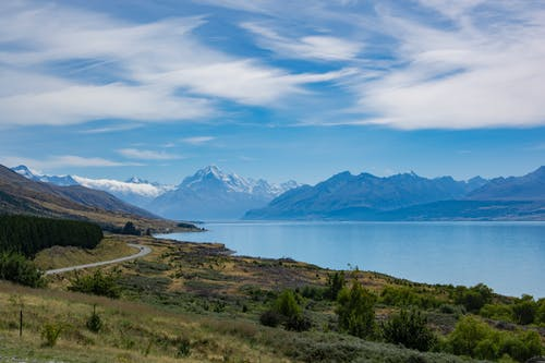 Fotos de stock gratuitas de #lake #glacier #road #mountains #newzealand