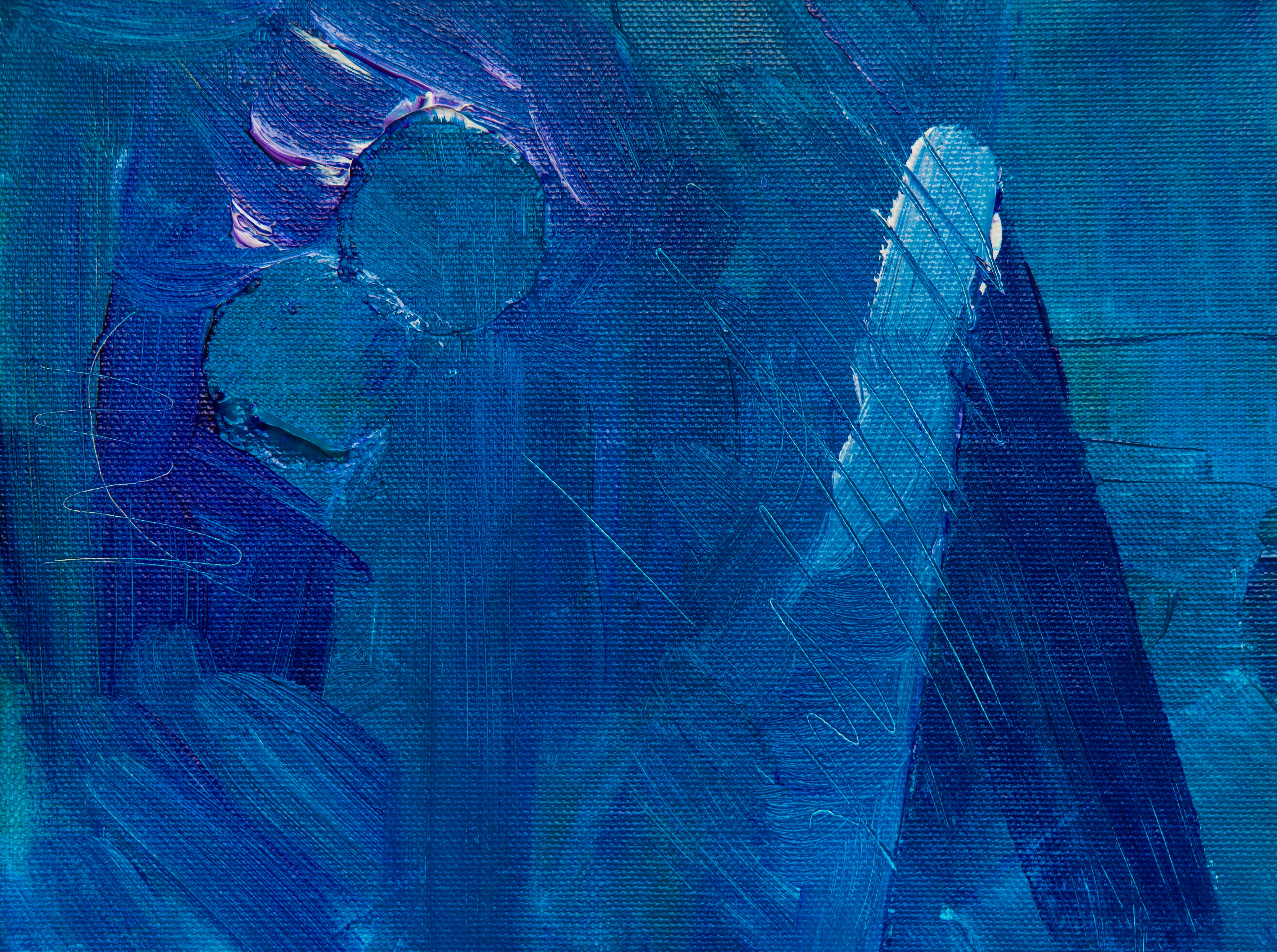 Photo of Blue Abstract Painting