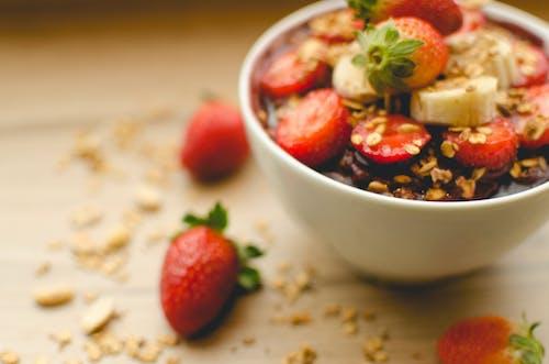 Kostenloses Stock Foto zu açaí, erdbeere, ernährung, gesunder lebensstil