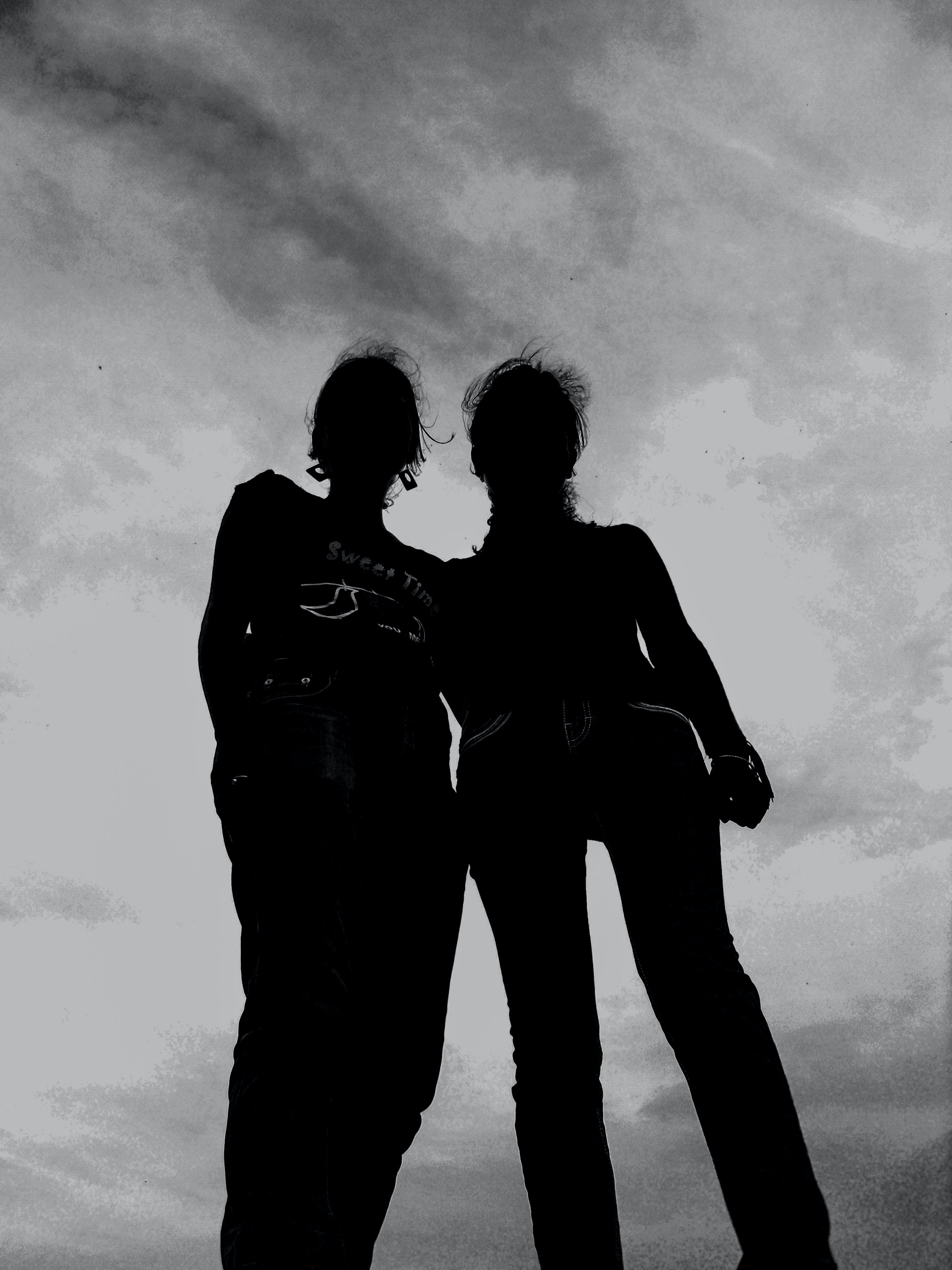 Silhouette Photography of 2 Persons