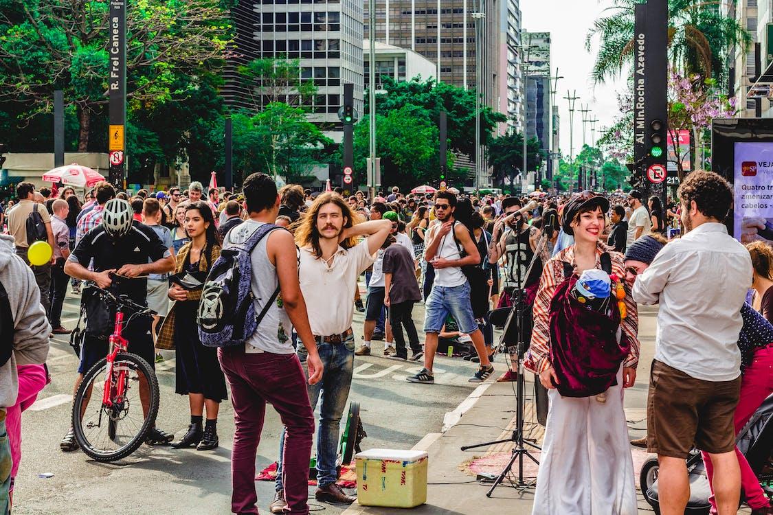 Crowd of People on Street