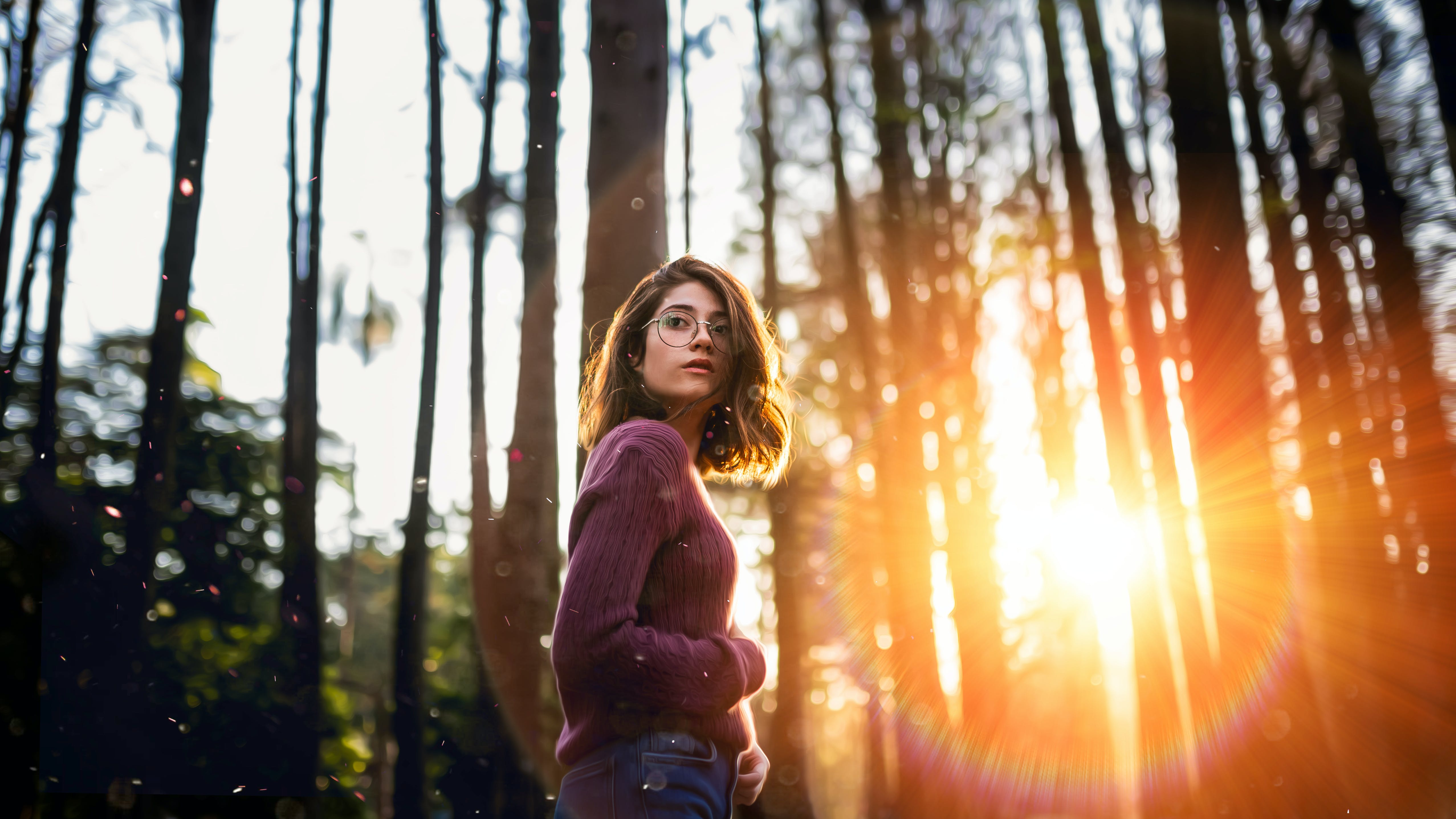 Free stock photo of beautiful girl, cinematic, forest, girl