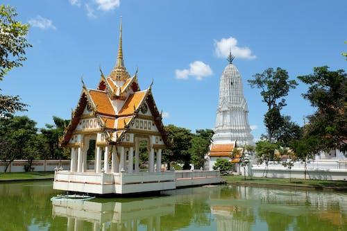 Free stock photo of ayutthaya, blue, pagoda, temple