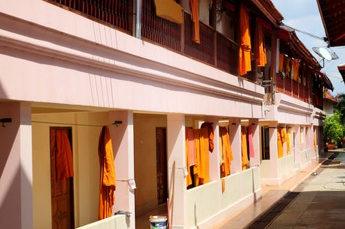Free stock photo of Buddhism, dress, monk, orange