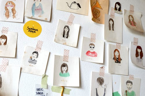 Free stock photo of arty, cute, drawing, people