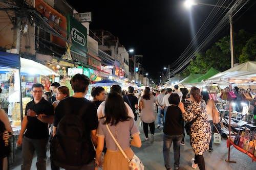 Free stock photo of chiang mai, market, night, people