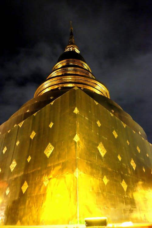 Free stock photo of chiang mai, contrast, gold, night