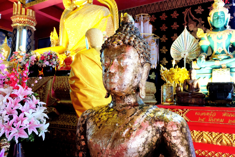 Free stock photo of buddha, gold, inside, statue